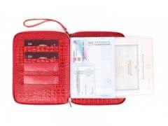 Красный органайзер на молнии Zipfolder, А5, Кайман