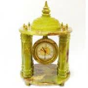 Настольные каменные часы, зелёный оникс, Большая беседка