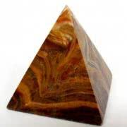 Сувенир из оникса Каменная пирамида 4 см
